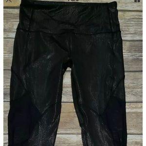 Women's KYODAN Black/Silver Sheer Legging SZ S NEW
